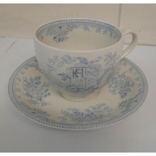 Blue china tea cup & saucer