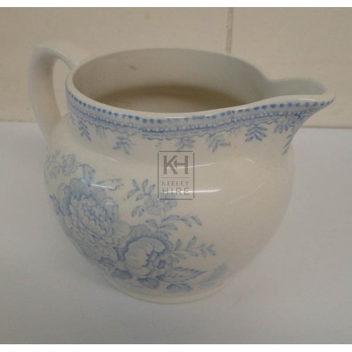 Blue china milk jug