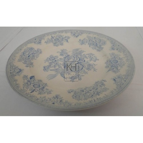 Blue patterned china plate