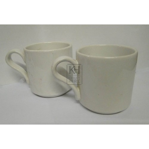 Plain china mugs