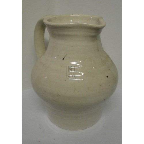 White pottery jug