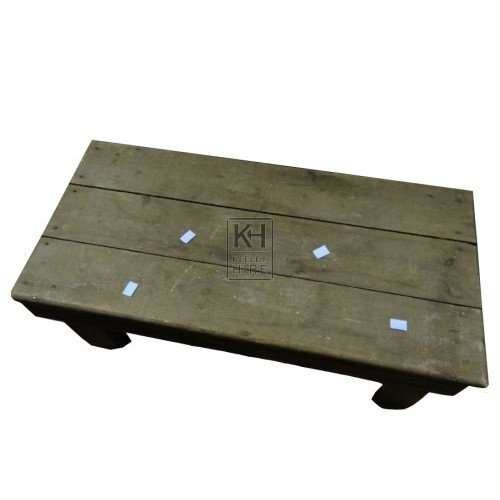 Rustic Rectangular Low Wood Table