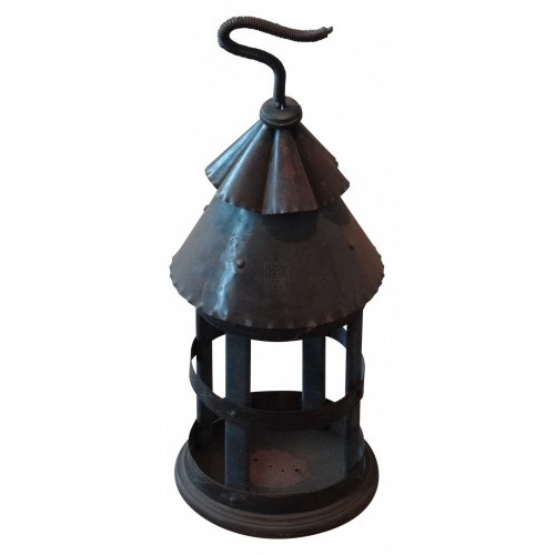 Ribbed Top Rustic Caged Lantern