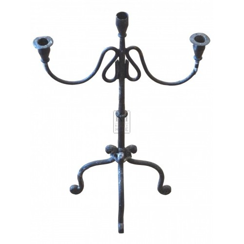 Looped Arm Iron Candleholder