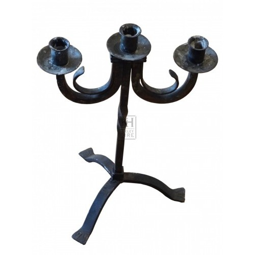 Triple Iron Candle Holder