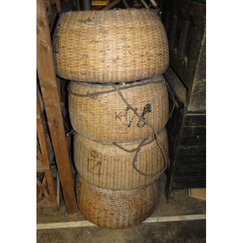 Very large woven baskets
