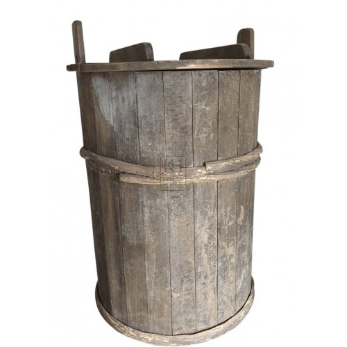 Large cart barrels with lids