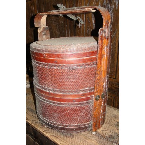Woven tub with lid and handle