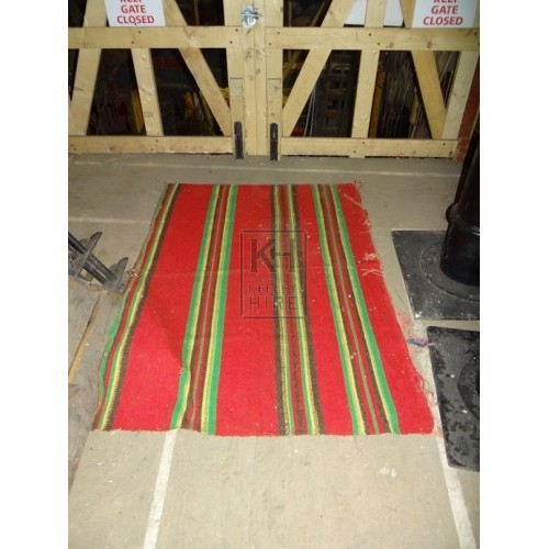 Small red rug