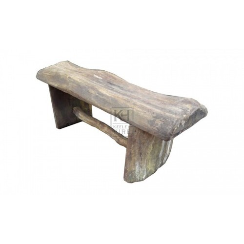 Chunky Wooden Bench