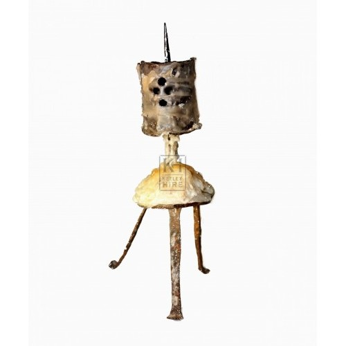 Gothic Cut Out 3 Legged Candlestick