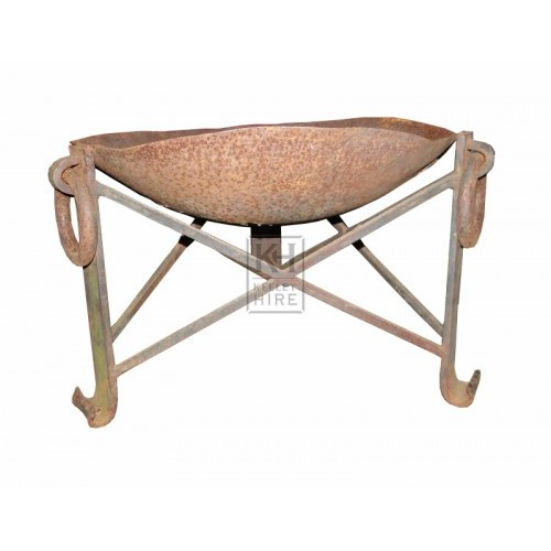 Medium iron bowl brazier