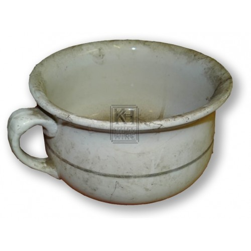 White pottery chamber pot
