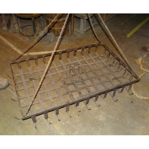Large iron hanging rack