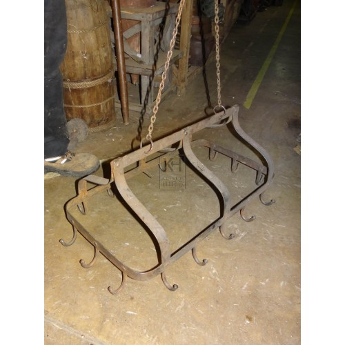 Medium iron hanging rack