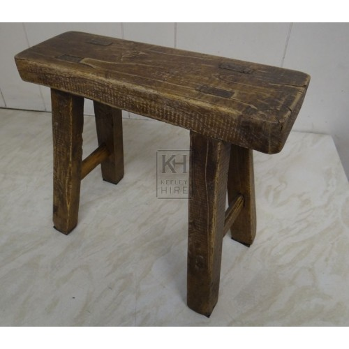 Small wood rectangle stool