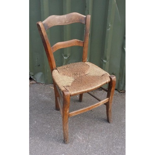 Straw seat wood chair