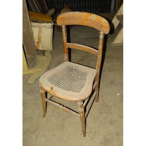 Simple varnished wood chair