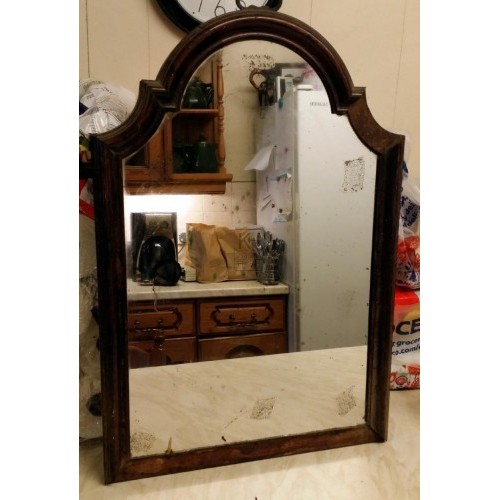 Old shaped mirror