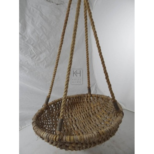 Small woven hanging basket