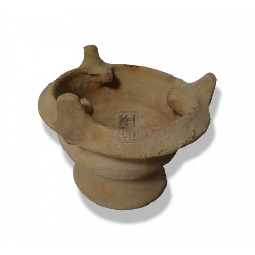 Pottery bowl burner