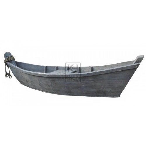 Wood Cladded Boat - Grey