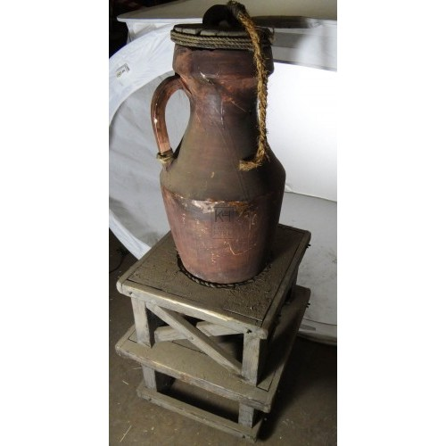 Amphora on wood stand