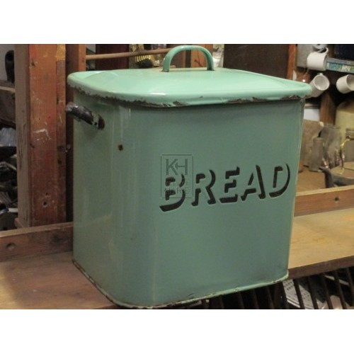 Enamel Bread Tin with Lid