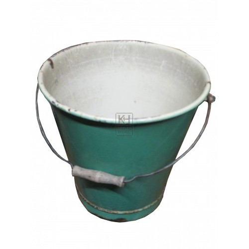 Enamel Green Bucket