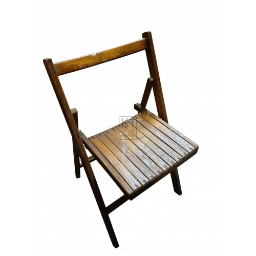 Small folding Wooden Slatted Chairs