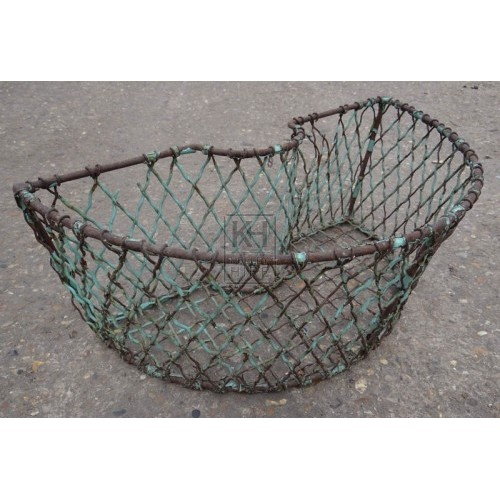 Metal shaped lobster creel