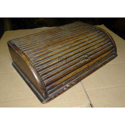 Hinged lid wood writing box