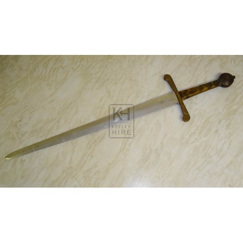 Lightweight steel sword