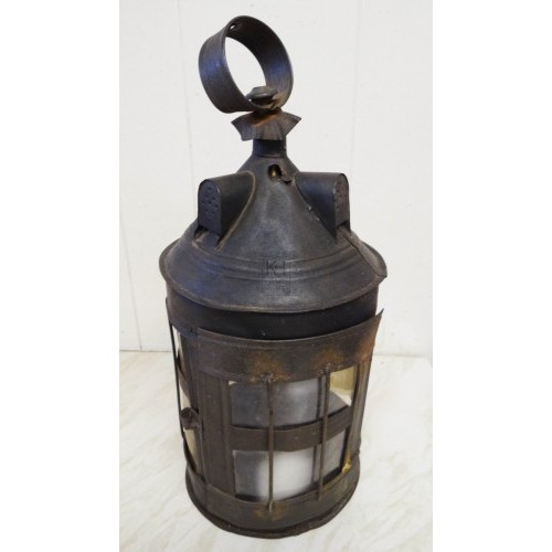 Large iron lantern with handle