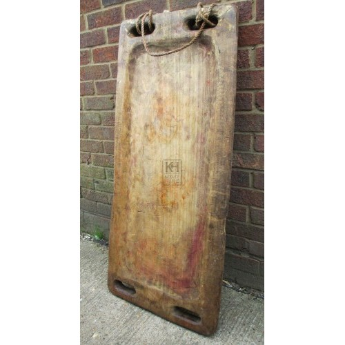 Large wood tray with handles