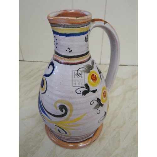 Long neck delft jug