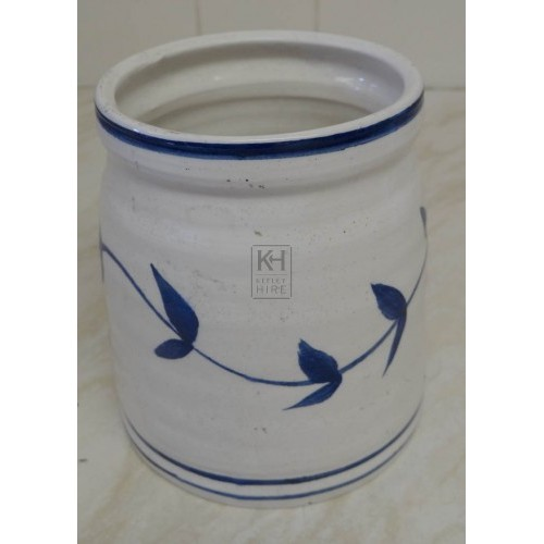 White delft china jar