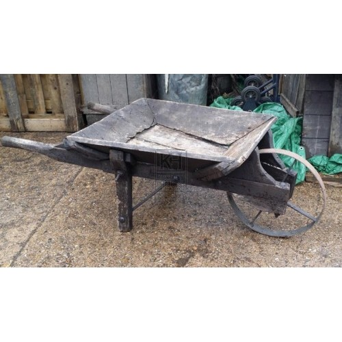 Rustic Wooden Wheelbarrow