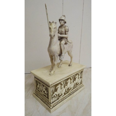Soldier on horseback on plinth