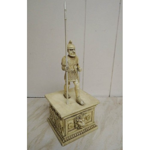 model soldier on plinth