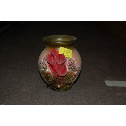 Small Flower Clay Vase