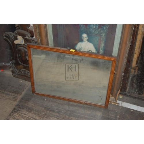 Rectangle Mirror Wooden Frame
