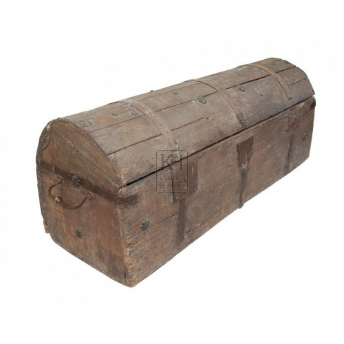 Dark Large Wooden Chest