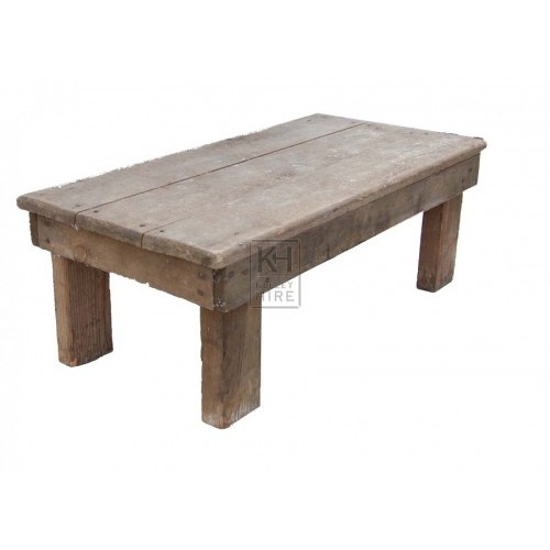 Low Rustic Wood Table