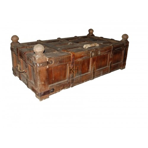 Large Wood Coffer