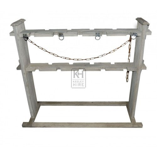 Large Wood Weapons Rack with Chains