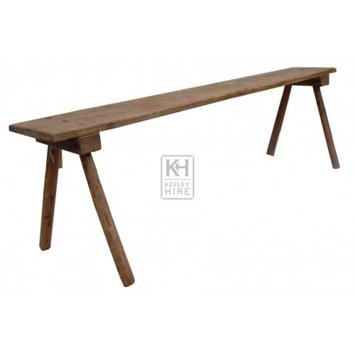 Thin Wooden Bench