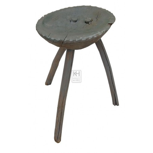 Rustic 3 Leg Wood Stool