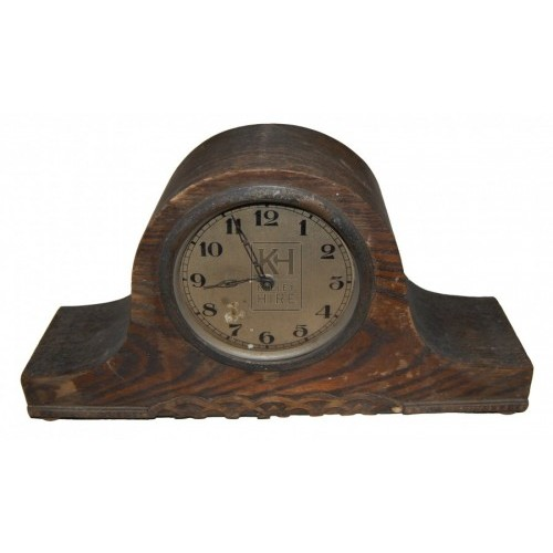 Small Wooden Mantlepiece Analogue Clock