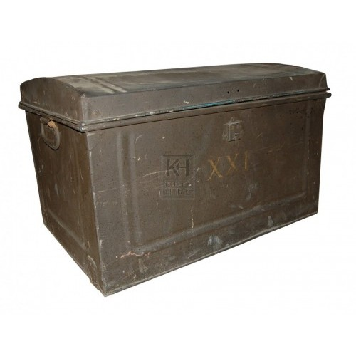 Dark Metal Chest Flat Top
